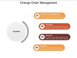 Change Order Management Ppt Powerpoint Presentation File Visuals Cpb