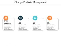 Change Portfolio Management Ppt Powerpoint Presentation Summary Examples Cpb