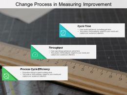 Change Process In Measuring Improvement