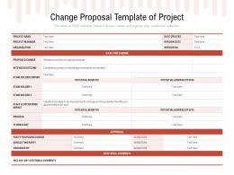 Change Proposal Template Of Project