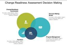 Change Readiness Assessment Decision Making Model Program Management Cpb