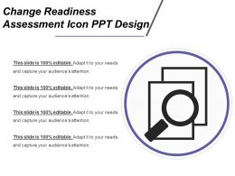Change Readiness Assessment Icon Ppt Design