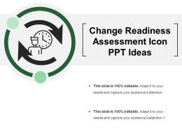 Change Readiness Assessment Icon Ppt Ideas
