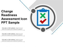 Change Readiness Assessment Icon Ppt Sample