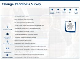 Change Readiness Survey Communications Ppt Powerpoint Presentation Outline Example Topics