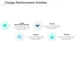 Change Reinforcement Activities Ppt Powerpoint Presentation Show Deck Cpb
