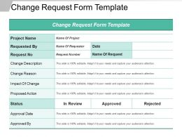 Change Request Form Template Ppt Samples