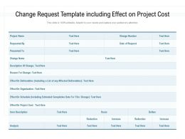 Change Request Template Including Effect On Project Cost