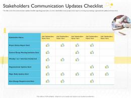 Change Requirements Stakeholders Communication Updates Checklist Ppt Styles