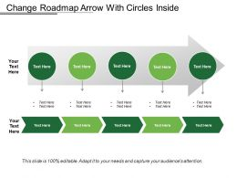 Change Roadmap Arrow With Circles Inside
