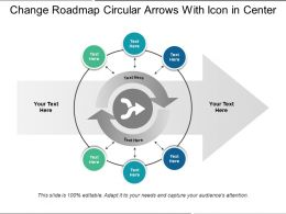 Change Roadmap Circular Arrows With Icon In Center