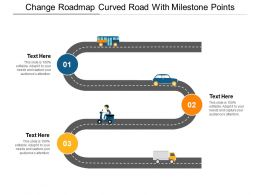 Change Roadmap Curved Road With Milestone Points