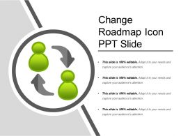 Change Roadmap Icon Ppt Slide