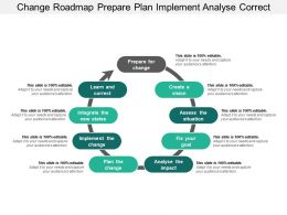 Change Roadmap Prepare Plan Implement Analyse Correct