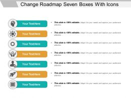 Change Roadmap Seven Boxes With Icons