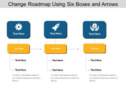 Change Roadmap Using Six Boxes And Arrows