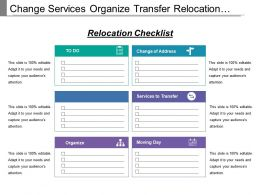 Change Services Organize Transfer Relocation Chart With Icons