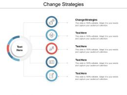 Change Strategies Ppt Powerpoint Presentation Show Samples Cpb