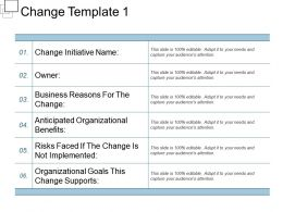 Change Template 1 Powerpoint Slides Templates