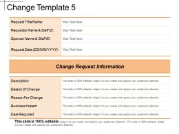 Change Template 5 Ppt Presentation