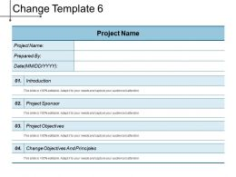 Change Template 6 Ppt Example Professional