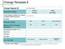 Change Template 8 Ppt Presentation Examples