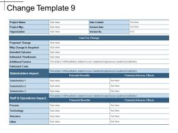 Change Template 9 Ppt Sample Presentations