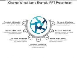 Change Wheel Icons Example Ppt Presentation