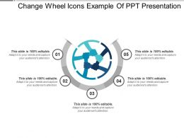Change Wheel Icons PowerPoint Presentation Examples