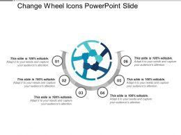 Change Wheel Icons PowerPoint Slide