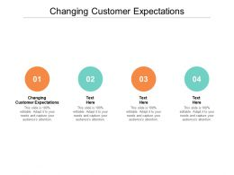 Changing Customer Expectations Ppt Powerpoint Presentation File Graphics Template Cpb