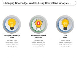 Changing Knowledge Work Industry Competitive Analysis Dissemination Information