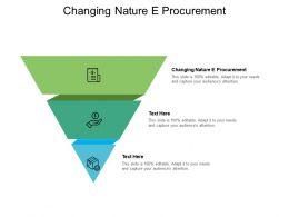 Changing Nature E Procurement Ppt Powerpoint Presentation Portfolio Introduction Cpb