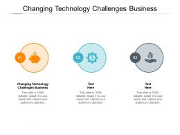 Changing Technology Challenges Business Ppt Powerpoint Presentation Pictures Cpb