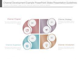 Channel Development Example Powerpoint Slides Presentation Guidelines
