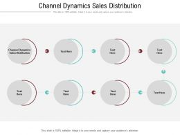 Channel Dynamics Sales Distribution Ppt Powerpoint Presentation Slides Gallery Cpb