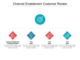 Channel Enablement Customer Review Ppt Powerpoint Presentation Model Shapes Cpb