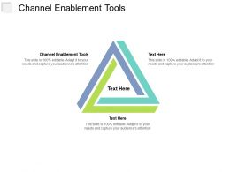 Channel Enablement Tools Ppt Powerpoint Presentation Ideas Backgrounds Cpb