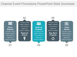 Channel Event Promotions Powerpoint Slide Download