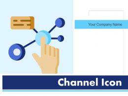 Channel Icon Distribution Information Communication Circles Square