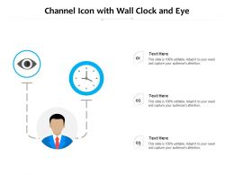 Channel Icon With Wall Clock And Eye