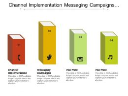 Channel Implementation Messaging Campaigns Sales Support Order Processing