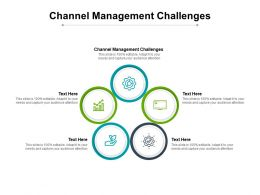 Channel Management Challenges Ppt Powerpoint Presentation Outline Cpb