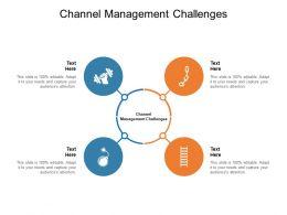 Channel Management Challenges Ppt Powerpoint Presentation Portfolio Cpb
