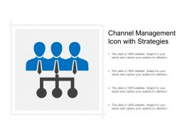 Channel Management Icon With Strategies