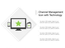Channel Management Icon With Technology