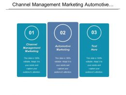 Channel Management Marketing Automotive Marketing Core Services Pricing Cpb