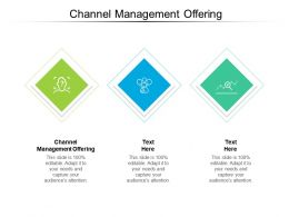 Channel Management Offering Ppt Powerpoint Presentation Outline Files Cpb