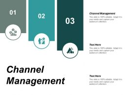 Channel Management Ppt Powerpoint Presentation Ideas Slideshow Cpb