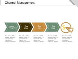 Channel Management Ppt Powerpoint Presentation Professional Demonstration Cpb